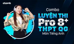 Combo LUYỆN THI PRO 8+ THPT QG môn tiếng Anh
